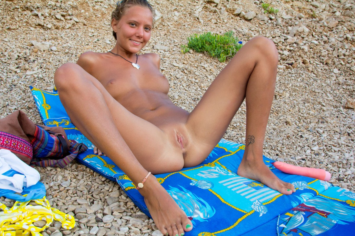girls tanning beach Teen on