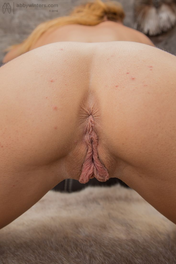 Blonde with big clit and trimmed pussy