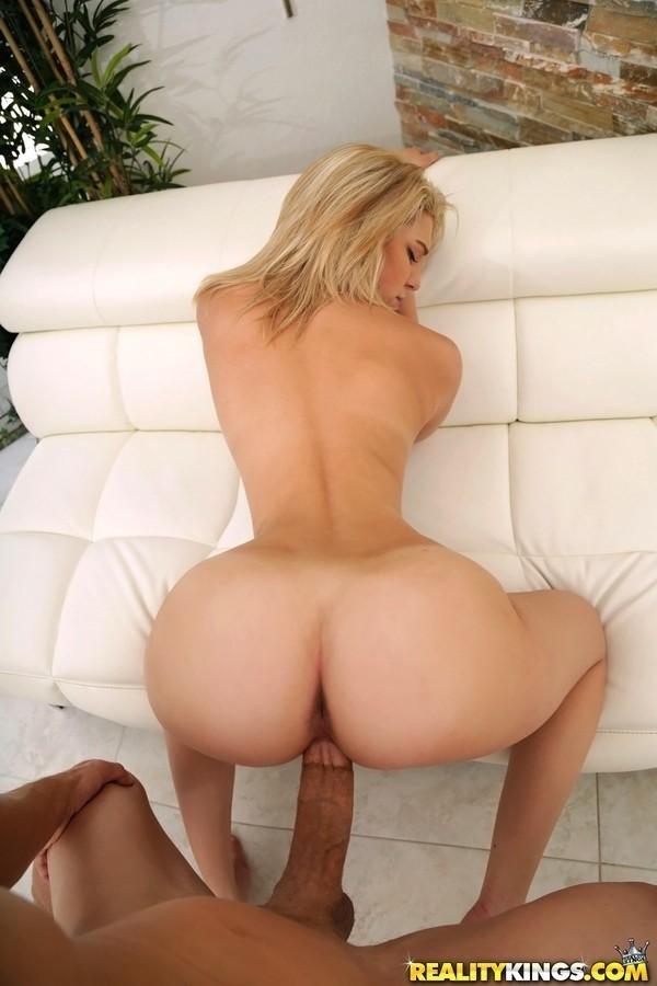 Blonde POV woman big butt