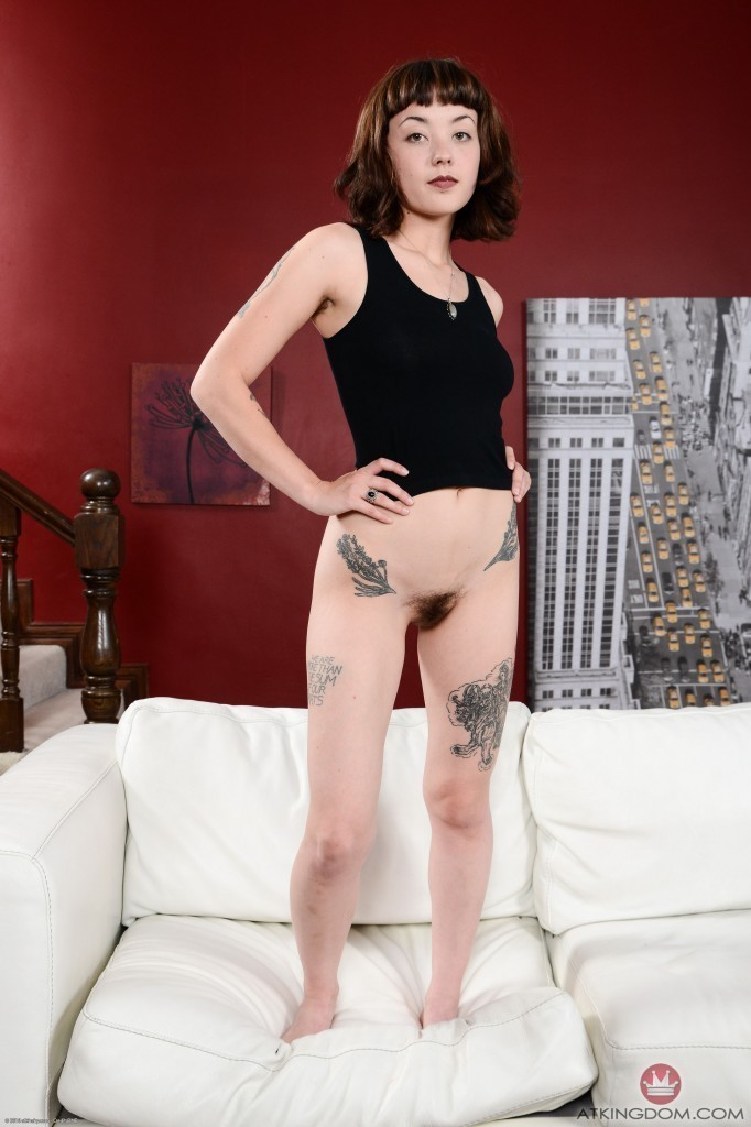 Excellent tattoos and hairy pussy all not