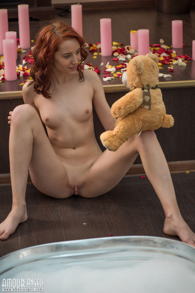 Teen playing with big toy nude consider