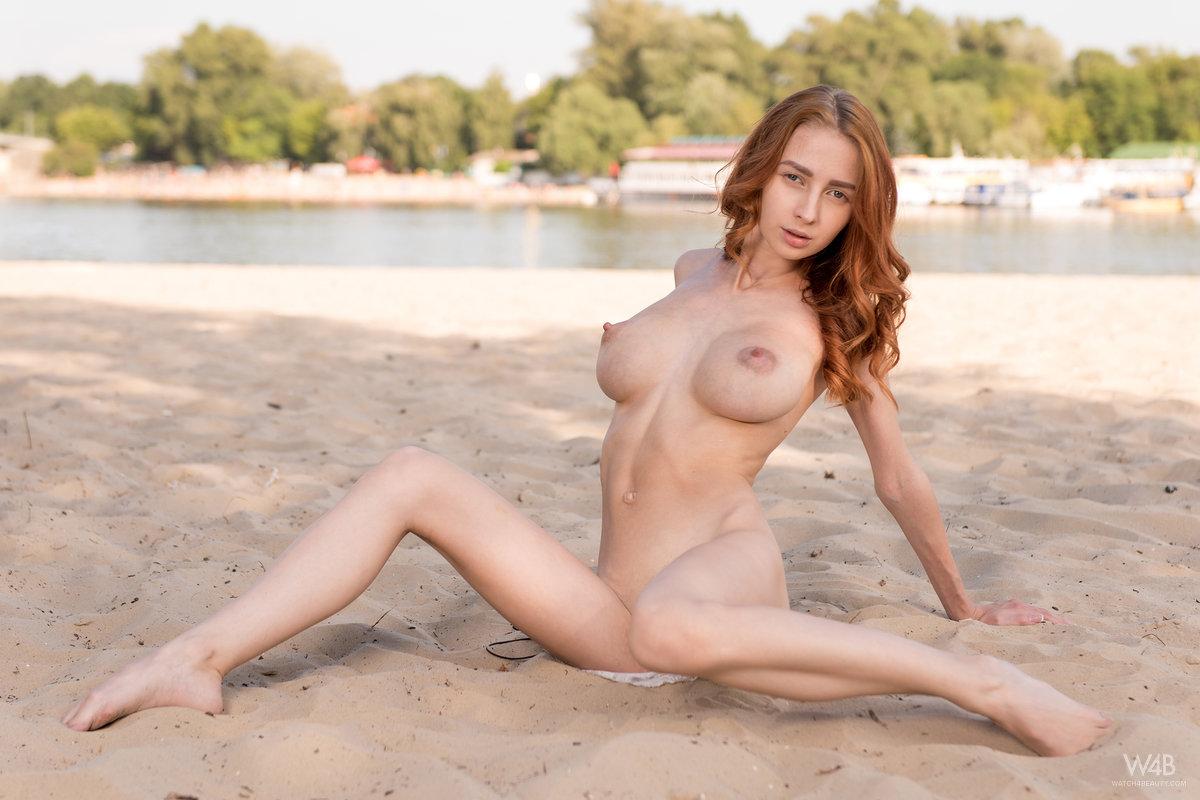 Girl, Skinny redhead massive tits