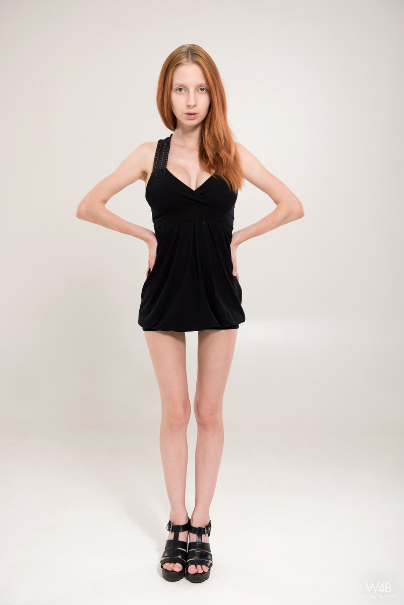 Cute amateur redhead teen posing #11