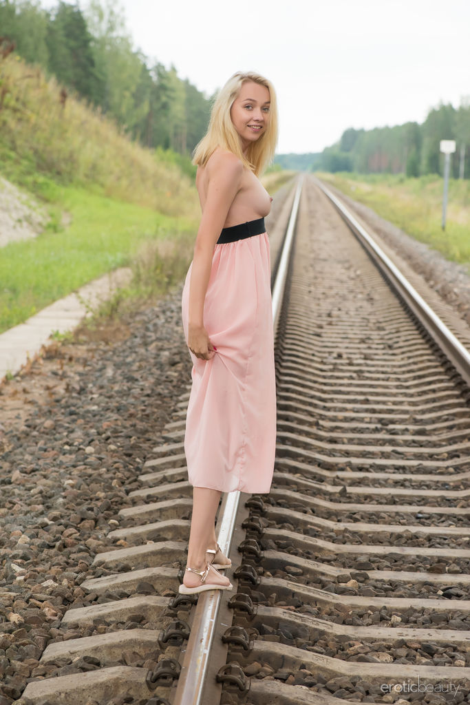 Blonde teen nude railway 9
