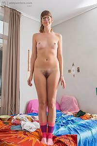 Mila nerdy amateur stripping