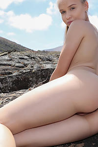 Angel B in Naked Angel In Lava Field