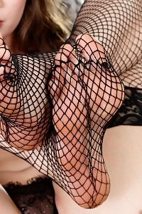 Elena Koshka mesh stockings