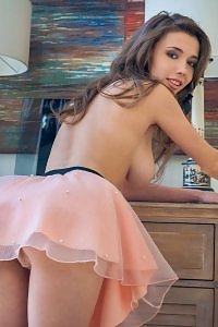 Mila Azul in Pink Skirt