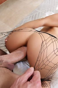 Abella Danger in Gaped In Ripped Stockings