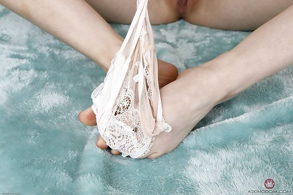 Jane Wilde thong pulled aside