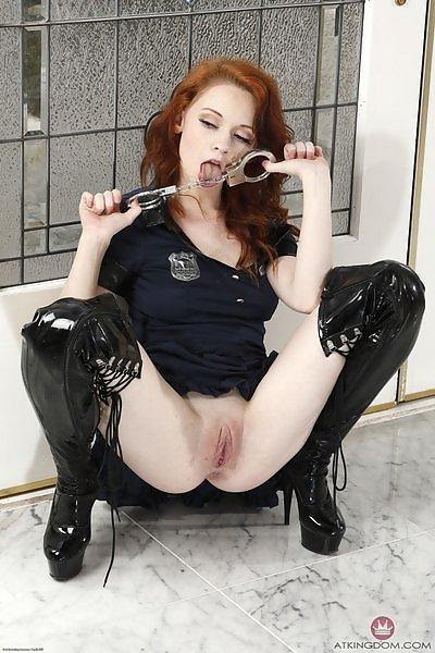 Athena Rayne sexy police uniform