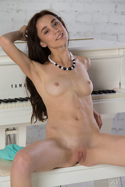 White Grand Piano featuring Valerie