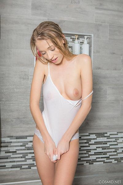 Mandy Jones in the shower