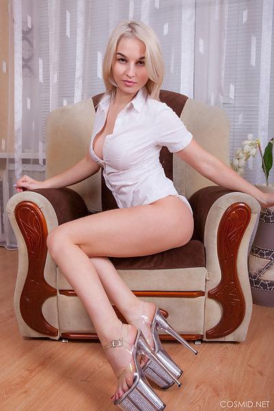 Gretta Kovak on her chair