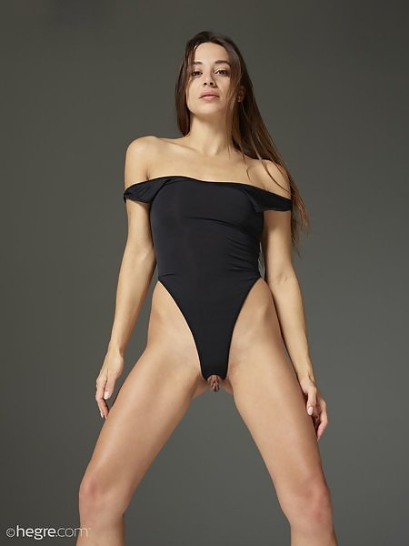 Dominika C in Crotchless Leotard
