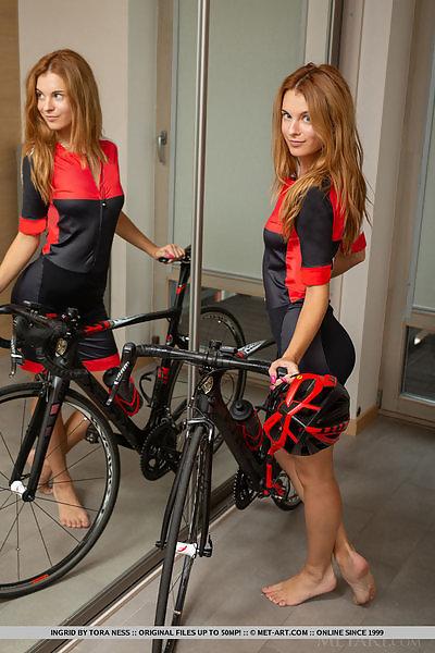Ingrid in Biking Babe by Tora Ness
