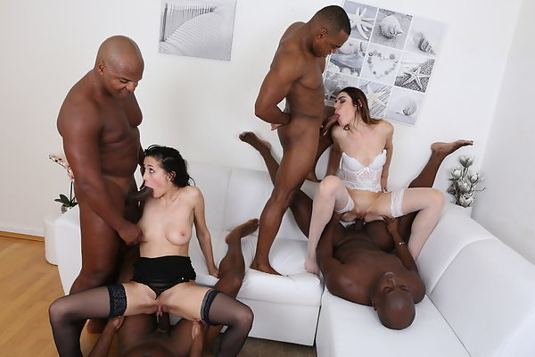 Nicole Love & Jessica Bell go crazy for black cock