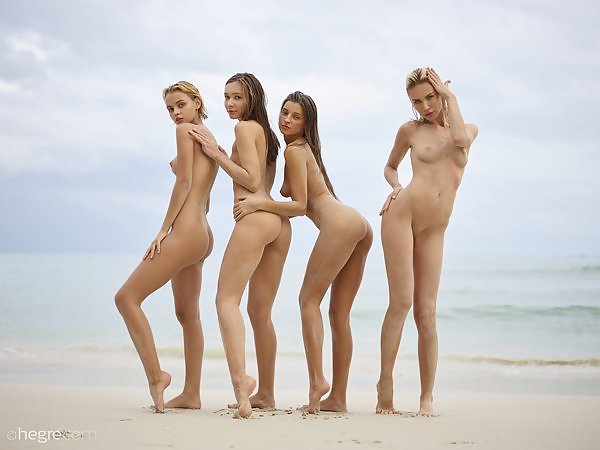 Ariel, Marika, Melena and Mira in nude symphony