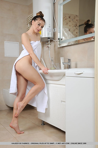 Kaleesy in Morning Shower by Fabrice