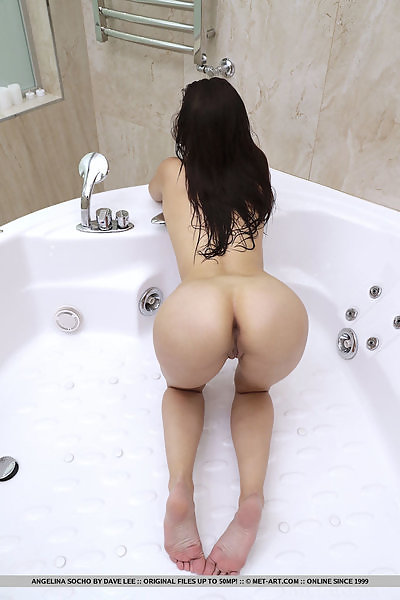 Angelina Socho in Shower Stream by Dave Lee