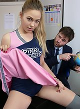Naughty coed gets asspounded by the principal and a teacher