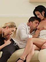 Lucky guy fucking 2 hot girls