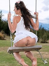 Lily Adams in Toying Outdoors by In The Crack