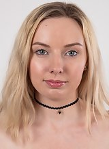 Casting pics of a flat-chested blonde teen with gorgeous eyes
