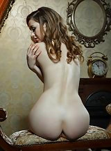 Erotic pics of a brunette with pale skin