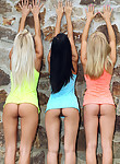 3 girls posing nude together