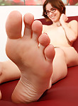 Nerdy fair-skinned foot lover getting fucked