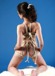 Brunette amateur all tied up