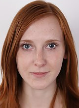 Casting pics of a freckled redhead teen