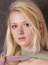 Athletic blonde teen with pale skin