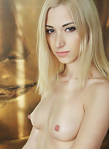 Blonde with big nipples and meaty pussy lips