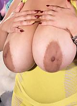 Busty latina hottie with huge pancake areolas