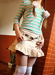 Cute teen allowing you to look up her short skirt