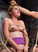 Spanish slave sirl Amarna Miller is tied-up and fucked hard