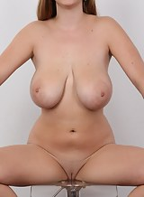 Casting pics of a blonde with huge pendulous tits