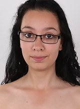 Casting pics of a nerdy black-haired girl