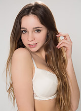 Casting of a cute long-haired teen