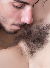 Hairy brunette amateur getting fucked