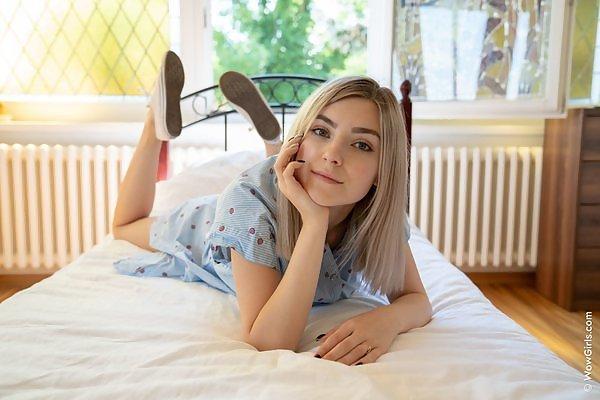Eva Elfie in White Angel