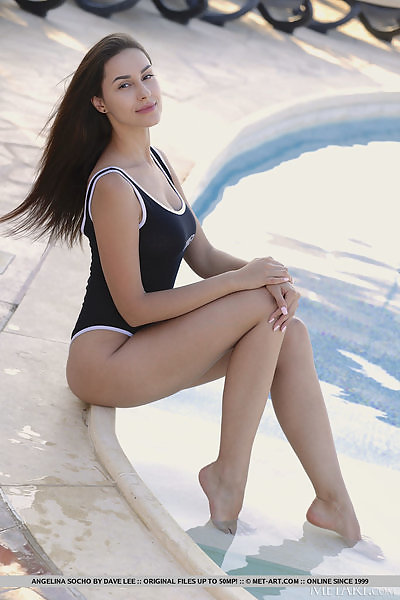 Angelina Socho in Vacation Pool by Dave Lee