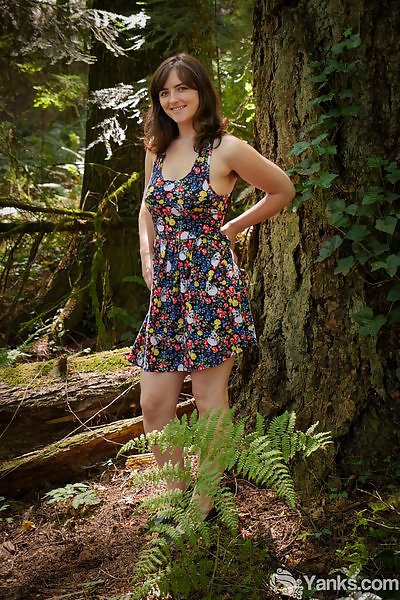 Raven Snow's Forest Frolicking